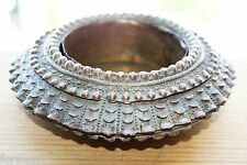 Antique Bronze Brass Heavy West African Slave Bracelet Modified to Ashtray Rare