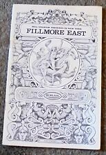 Fillmore East Music Hall Concert Program Procol Harum Electric Graham Rock Byrd