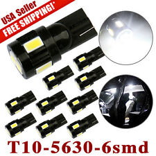 10x T10 6-SMD White SAMSUNG 5630 LED Car Backup Dome Map Light Bulb W5W 194 168