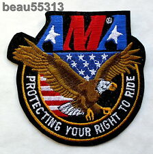 "AMA AMERICAN MOTORCYCLE ASSOCIATION ""PROTECTING YOUR RIGHTS"" VEST JACKET PATCH"