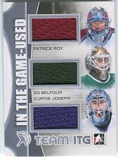 Patrick Roy Ed Belfour Curtis Joseph 2013-14 ITG Used Jersey Silver /9 *O707