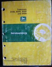 John Deere Schlepper 8100 + 8200 + 8300 + 8400 Handbuch