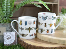 Set of 2 ROYAL BOTANIC GARDENS, KEW Bug Study FINE CHINA MUGS