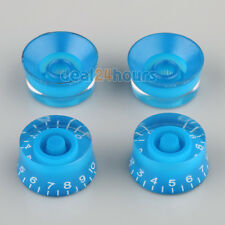 4pcs Blue Speed Knobs Volume Control Buttons for Les Paul Electric Guitar