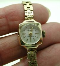 1960's Ladies Solid 9ct Gold Humberstone Bracelet Watch