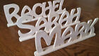 Wooden Words Letters Free Standing Plaque Personalised Names Wedding Home Gift