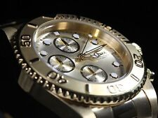 Invicta Mens Pro Diver Chronograph Coin Edged Bezel Gold Plated Watch 1774 NEW