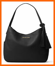 NEW Michael Kors Black Soft  Leather Large Shoulder Bag Slouchy Hobo Purse