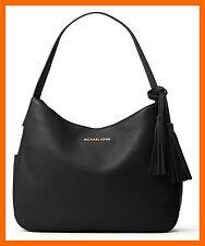 NEW Michael Kors Black Soft  Leather Large Shoulder Bag Slouchy Hobo Purse