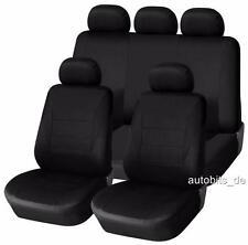 Sitzbezug Sitzbezüge Schonbezüge VW JETTA GOLF 3 4 5 6 Schwarz Komplettset Y