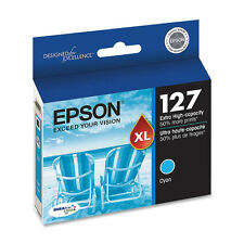 Genuine Epson T127 127 Cyan ink Workforce 840 635 633 630 WF 7010 7510 7520
