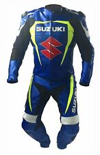 SUZUKI-S- MOTORCYCLE/MOTORBIKE LEATHER SUIT RACING,COWHIDE LEATHER SUIT(Replica)