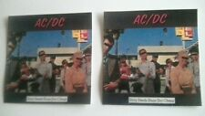 2x AC/DC Dirty Deeds Done Dirt Cheap official stickers.