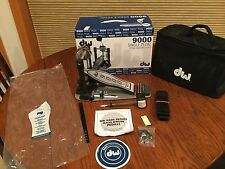 DW Drum Workshop 9000 Single Bass Drum Pedal  Excellent Bag Accessories & Box