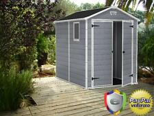 Keter Manor Large 6 x 8 ft. Resin Outdoor Backyard Garden Storage Shed Garage