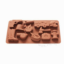 Fire Fighting Equipment Shape Silicone Chocolate Candy Jello Soap Crayon Mold