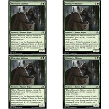 4 x OBSESSIVE SKINNER NM mtg Shadows Over Innistrad Green - Human Rogue Unc