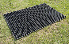 Horse Gateway Rubber Matting Grass Mat 1200mm x 800mm FREE Ties and Fixing Pegs