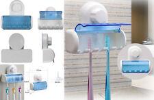 5 Rack Baño Ventosa Higiénico Cepillo de dientes titular fácil de arreglar montado en la pared