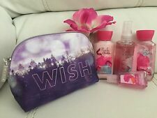 Bath & Body Works Pink Chiffon Set Travel-essentials Mini Bag Mist+wash+++