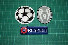 UEFA CHAMPIONS LEAGUE, RESPECT and 9 TIMES TROPHY BADGES 2012-2013