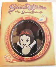 Disney Snow White Face with Red Ribbon in Hair Pin