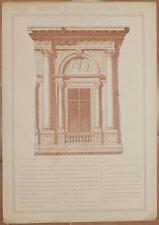 RICORDI DI ARCHITETTURA TRABEAZIONE PALAZZO COMUNALE CASALMAGGIORE CREMONA 1890