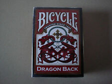 DRAGON BACK BICYCLE DECK RED EDITION PLAYING CARDS POKER SIZE USPCC MAGIC TRICKS