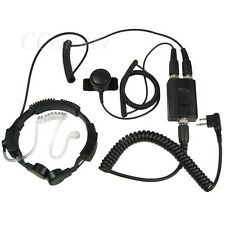 FBI Heavy Duty Military Tactical Throat Mic For Motorola CP200 CP250 CP300 GP300