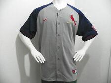Nike Authentic St Louis Cardinals MLB Baseball Jersey Shirt Mens Large Gray Navy