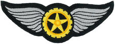 """WINGED COG EMBROIDERED PATCH 10CM X 3.5CM (4"""" X 1-1/2"""")"""