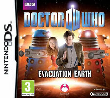 DOCTOR WHO - EVACUATION EARTH • NINTENDO DS  Game, box and instructions.