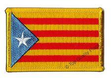 Estelada blava Catalonia Flag EMBROIDERED PATCH 8x6cm Badge