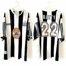 Newcastle United Batty Home Shirt 1995. XXL Adidas White Adults Utd Football Top