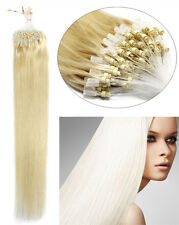 Double Drawn Grade 7a Remy Human Hair Extensions Loop Silicone Micro Ring Beads