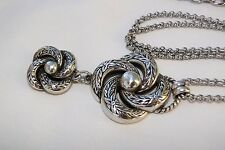 New Brighton Garland Silver Pendent Long Chain Altered Necklace