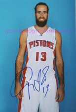 LUIGI DATOME - DETROIT PISTONS NBA SIGNED IN PERSON AUTOGRAMM AUTOGRAPH 20x29 CM