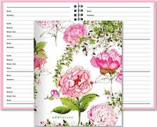Telephone and Address Book Large Pink White Floral Design Rose