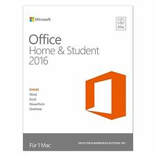 Microsoft Office Home & Student 2016 - für MAC - DE/EN/FR + Multilingual