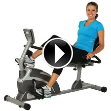 Recumbent Exercise Stationary Bike Bicycle Machine Cycles Fitness Equipment Gym