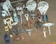 Star Wars Lot Vintage 90s 2000s Vehicles endor at-at millennium falcon slave 1