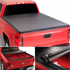 Roll up Lock Soft Tonneau Cover For 09-14 F-150 8ft/96in Bed w/o Utility Track
