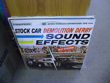 Stock Car Demolition Derby Sound Effects vinyl LP MEXICO Import in shrink 1964