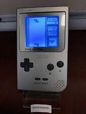 Silver Original Nintendo Gameboy Pocket 1989 (MGB-001) Bivert With Backlight