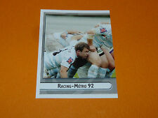 N°496 RACING-METRO 92 PANINI RUGBY 2007-2008 PRO D2 FRANCE