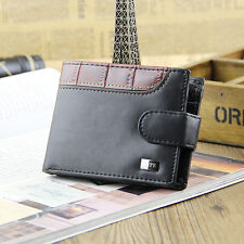 Mens  Real Leather Wallet By Skype Black New With Coin Pouch