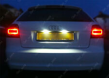 Audi A3 A4 A6 TT Number Plate PURE XENON WHITE LED Light Bulbs - ERROR FREE