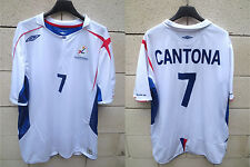 Maillot Equipe de FRANCE Beach Soccer Umbro shirt CANTONA N°7 football jersey XL