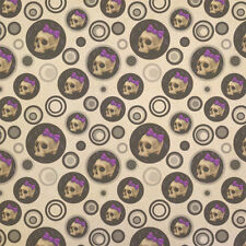 Girlie Punk Skull Kraft Present Gift Wrap Wrapping Paper