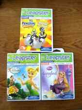 NEW! Leap Frog LEAPSTER 3 Games: Disney Fairies, The Penguins, Tangled *READ!!